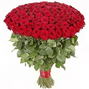 Букет 101 роза 70 см