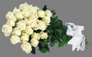 Букет 25 белых роз купить