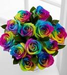 Радужные розы купить: