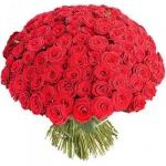 Больше чем радость!  букет из 101 розы 60 см на ваш выбор купить: