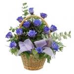 Корзина синих роз купить: